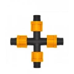 Крестовое соединение для капельной ленты на 4 выхода DN17 AD 5130