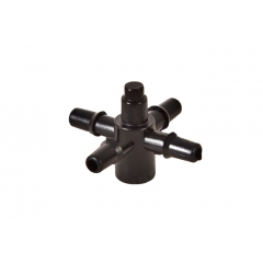 Соединение для трубки 4 мм на 4 выхода для капельниц AD 5004